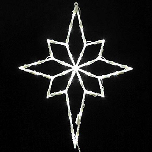 "Vickerman Lighted LED Star of Bethlehem Christmas Window Silhouette Decoration, 18"""