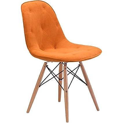 Amazon Com Charles Ray Eames Dining Chair Orange Rtm258366