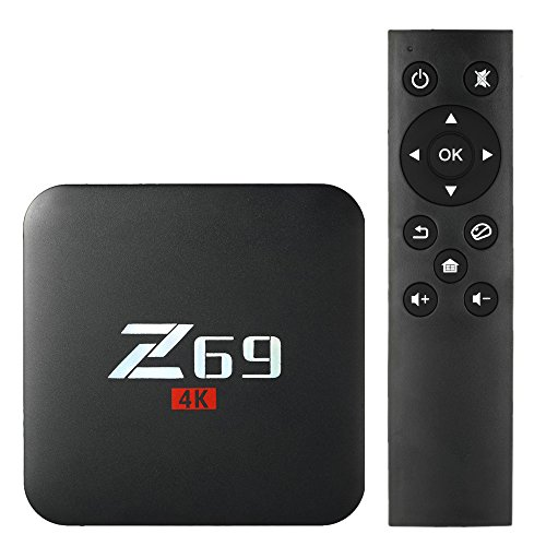 Walmeck Z69 Smart Android 7.1 TV Box,Amlogic S905X Quad-core,UHD 4K 3GB/32GB,Mini PC LAN & WiFi H.265 Miracast Media Player US Plug by Walmeck