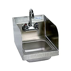 Wall Splash Mount Space Saver 2 Hole Hand Sink With Side