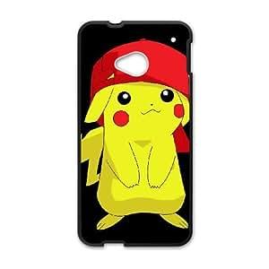 HTC One M7 Cell Phone Case Black Super Smash Bros Pikachu L8D6GV