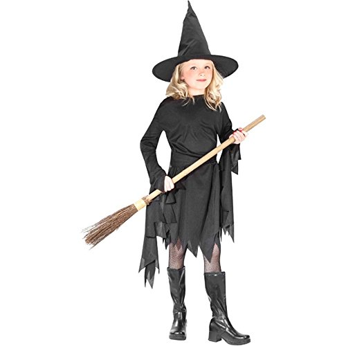 Childrens Witch Costume Ideas (Child Classic Black Witch Costume Size: Youth Medium 8-10)