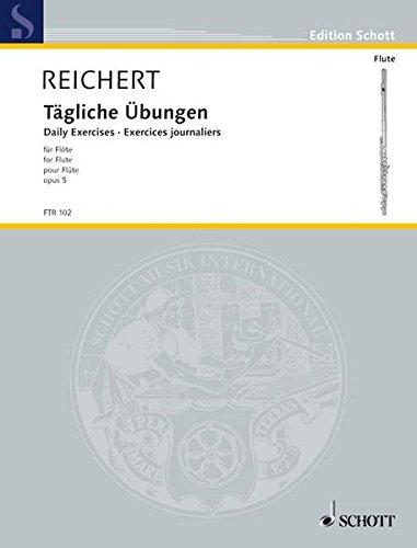 Tägliche Übungen  Op. 5. Flöte.  Edition Schott