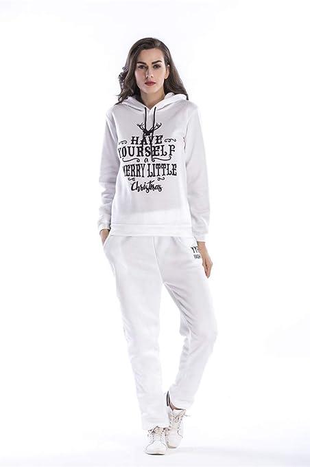 X-xyA Sudadera Casual para Mujer Sudadera con Capucha Pantalones ...