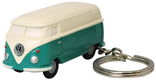Volkswagen Type II Bus Key Chain Light, Green and Ivory