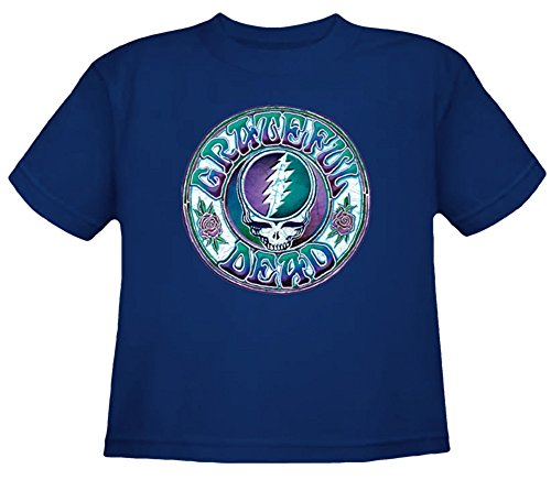 Grateful Dead Toddler Steal Your Face Solid T Shirt by Dye The Sky (Toddler-4T) (Toddler-3T) Navy