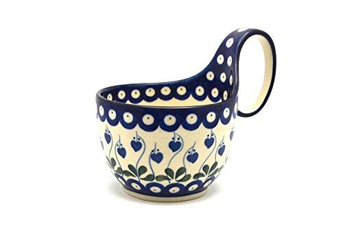 Polish Pottery Loop Handle Bowl - Bleeding Heart