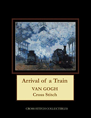 (Arrival of a Train: Van Gogh Cross Stitch Pattern)