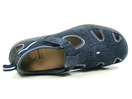 Sandalias Azul para de Mujer Spirit Cuero Earth Cleveland RzqE1xwS