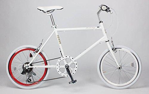 21Technology(CL20)ミニベロ 20インチシマノ製6段変速ギヤ付きクロスバイク B00HQ73SU4 ホワイトレッドリム ホワイトレッドリム