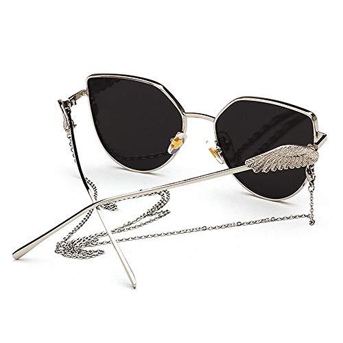 la Planos Coloreada de Conducir de Lentes Sol Verano Uiophjkl de Playa Unisex Uso Cadena en Vacaciones para borlas Protección Adecuado Lente la espejados de de Wings Angel Diario C1 UV400 Gafas con para 5Uq1x1a7w