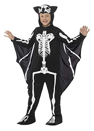 Smiffy's Bat Skeleton Costume, Black/White, ()