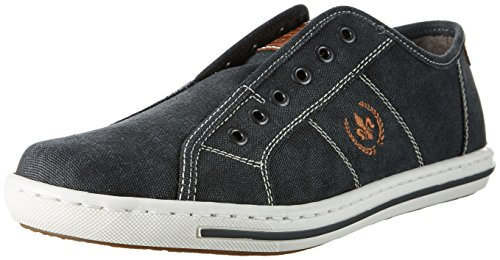 Rieker Herren 19050 Low-Top Grau (Anthrazit/Amaretto / 45)