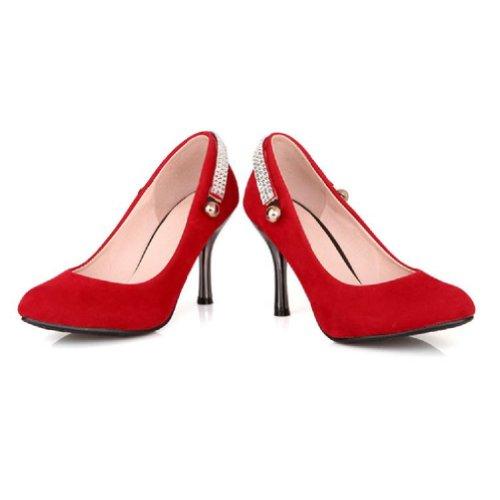 Carol Schoenen Womens Basic Classic Hoge Hak Stiletto Mary Jane Pumps Schoenen Rood