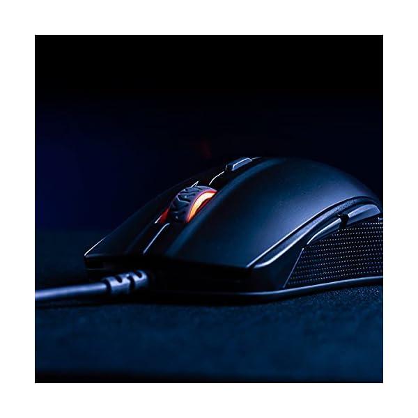 SteelSeries Rival 110 Gaming Mouse - 7,200 CPI TrueMove1 Optical Sensor - Lightweight Design - RGB Lighting (Renewed)