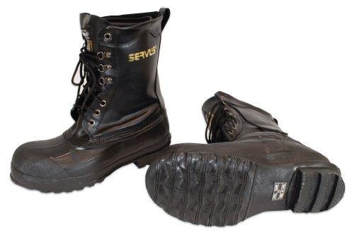 Ranger 10 Stivali da uomo in pelle e acciaio con inserti in gomma, neri (A521)