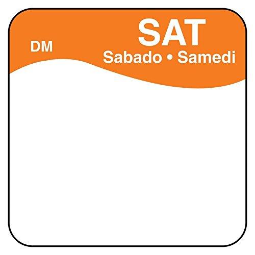 DayMark 1100726 DissolveMark Blank 1'' Saturday Day Square - 500 / RL by DayMark Safety Systems