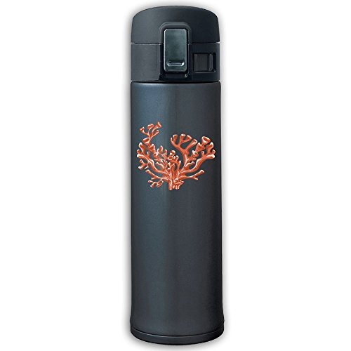 Stainless Steel Mug Red Coral Bouncing Cover Insulation Vacuum Cup Bottle Thermos Travel Mug Navy