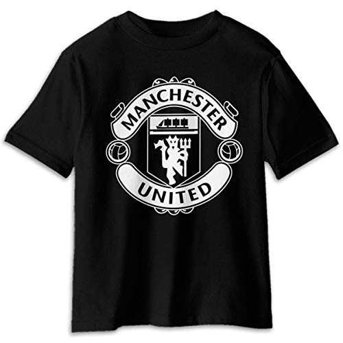 Manchester United Logo Cotton Tee Kids T-Shirt Black 3T