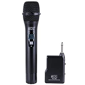 tonor handheld wireless microphone vhf vocal audio dynamic mic for outside. Black Bedroom Furniture Sets. Home Design Ideas