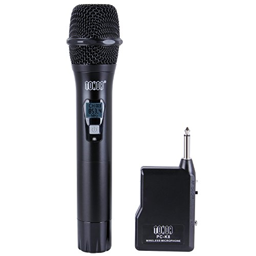 TONOR Handheld Wireless Microphone, VHF Vocal Audio Dynamic Mic for Outside Amplifier Party Wedding Entertainment Activity, Indoor Meeting Karaoke Recording by TONOR