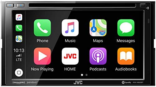 (JVC KW-V850BT Compatible with Android Auto/Apple CarPlay CD/DVD Stereo/Bluetooth)