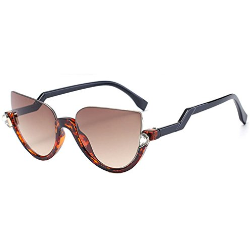 Sinkfish SG80016 Sunglasses for Women,Anti-UV & Fashion Oval - UV400/Coral Frames/Peru Lens