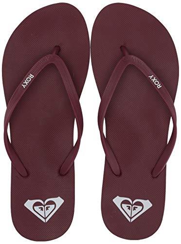 (Roxy Women's Azul Flip Flop Sandal, Dark red, 11 M US)