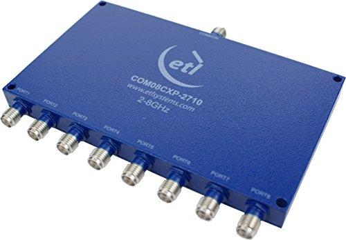 Wideband 2-8 GHz 8-Way Passive Divider Splitter Combiner