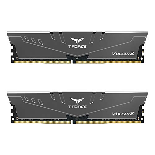 TEAMGROUP T-Force Vulcan Z DDR4 32GB Kit (2x16GB) 3200MHz (PC4-25600) CL16 Desktop Memory Module Ram (Gray…