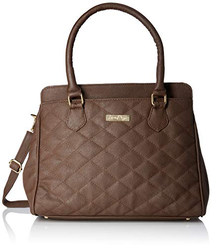 - Lica Pezo Quilt Women Handbag (Brown)