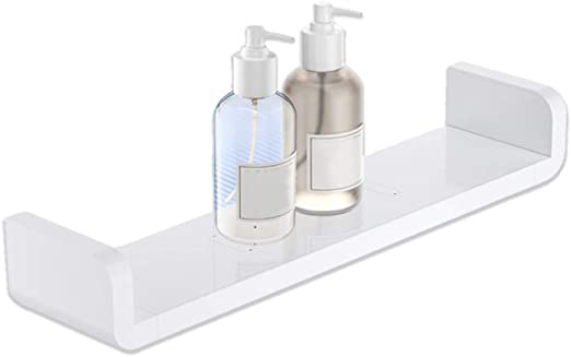 Kungyo Weiss Kunststoff Wandmontiertes Badezimmer Wandregal Saug
