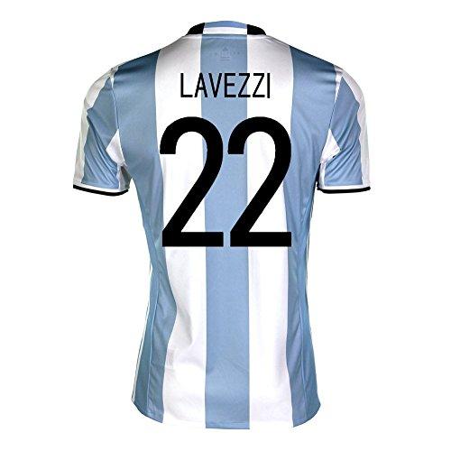 省啓示スケートadidas Lavezzi #22 Argentina Home Soccer Jersey Copa America Centenario 2016 YOUTH/サッカーユニフォーム アルゼンチン ホーム用 ラベッシ ジュニア向け