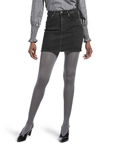 HUE Women's Luster Tights with Control Top, steel ()