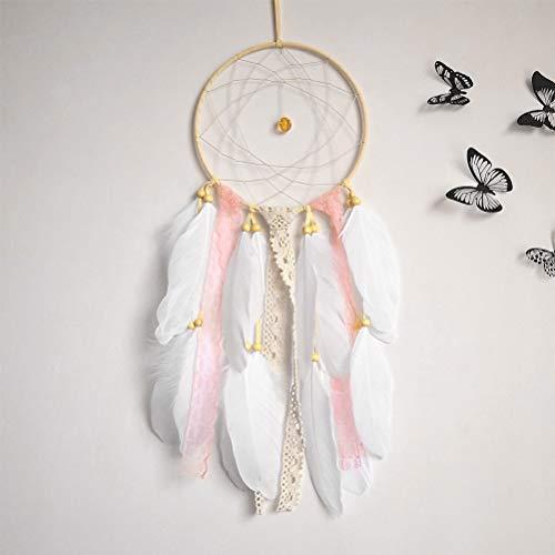 ofnmy Handmade Feathers Dream Catcher Pink Kids 6.3