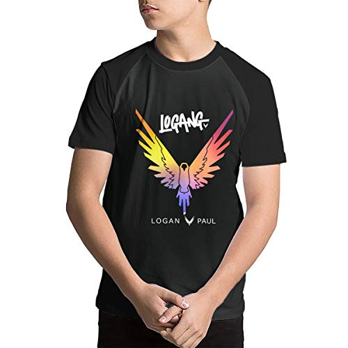 Teens Shirts, Parrot Logo Galaxy Logan Paul Tees Breathable Softable Short Sleeve for Study Ourdoor Activities ()