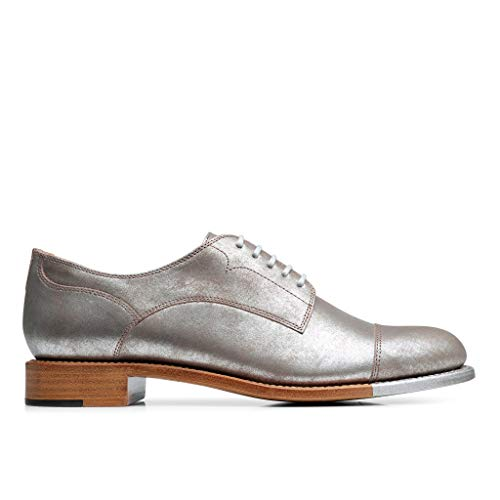 Steel The Oxford Of Silver Scott Toe Angela Mr Office Leather Franklin Cap vvrwqPR