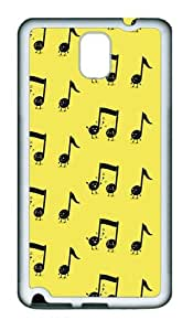 Happy musical Notes TPU Silicone Case Cover for Samsung Galaxy Note 3 N9000 šC White