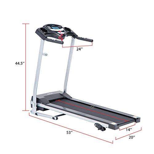 Merax Fitness Folding Treadmill - Electric Motorized Exercise Machine for Running & Walking [Easy Assembly] (Classic Black) by Merax (Image #6)