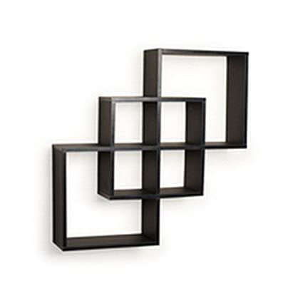 amazon com danya b ff6013b decorative contemporary floating rh amazon com black decorative floating shelves black decorative wall shelves