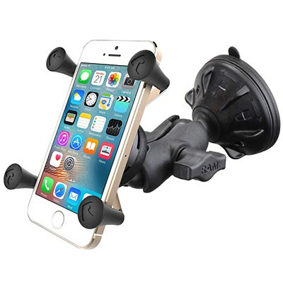 RAM X-Grip Phone Mount with RAM Twist-Lock Low Profile Suction Base: Automotive