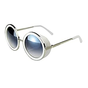 JULI 80's Style Vintage Style Inspired Classic Round Sunglasses 66666-7