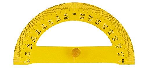 JPC - Rapporteur - 35 cm - jaune - bois - pour instituteur