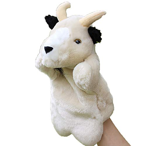 Tcplyn Premium Cute Goat Hand Puppet Baby Kids Developmental Soft Doll Plush Toy Style 1