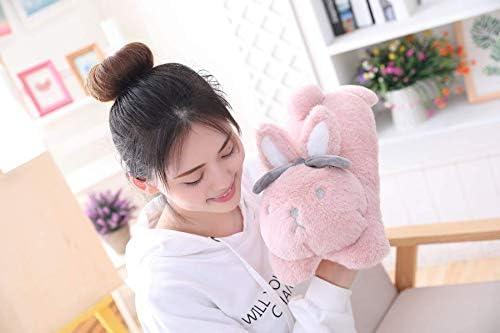 Rabbit Pluche speelgoed, leuke kussen, Bunny soft Kleine dieren gevulde pop, huishoudelijke gift verjaardagscadeau 35x20x15cm lucar