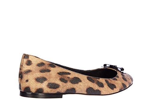 Dolce&Gabbana ballerines femme en cuir neuves miley leo marron