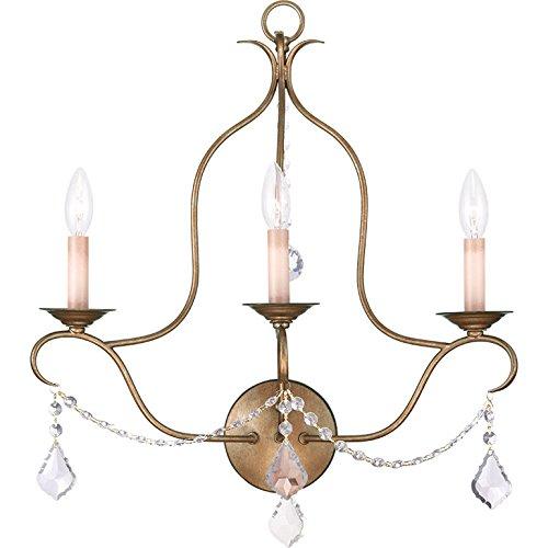 (Livex Lighting 4665-01 Milania 5-Light Convertible Hanging Lantern/Ceiling Mount, Antique Brass)