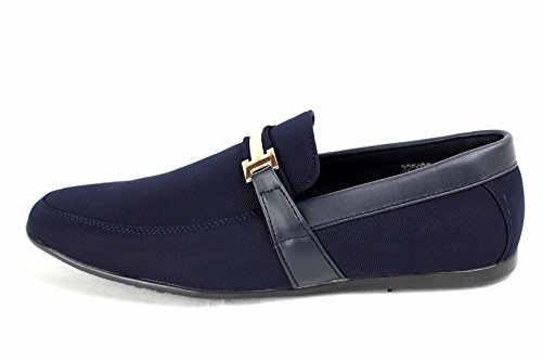 CABALLEROS Conducción Zapatos SIN CIERRES Inteligente Mocasines Azul