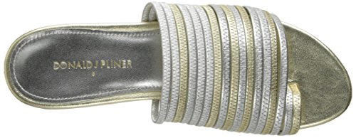Donald J Pliner Femmes Frea Toe Bague Sandale Argent-platino