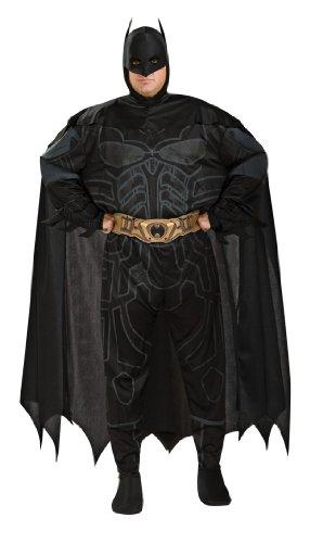 Batman The Dark Knight Rises Adult Batman Set, Black, (Adult Plus Size Black Knight Costumes)